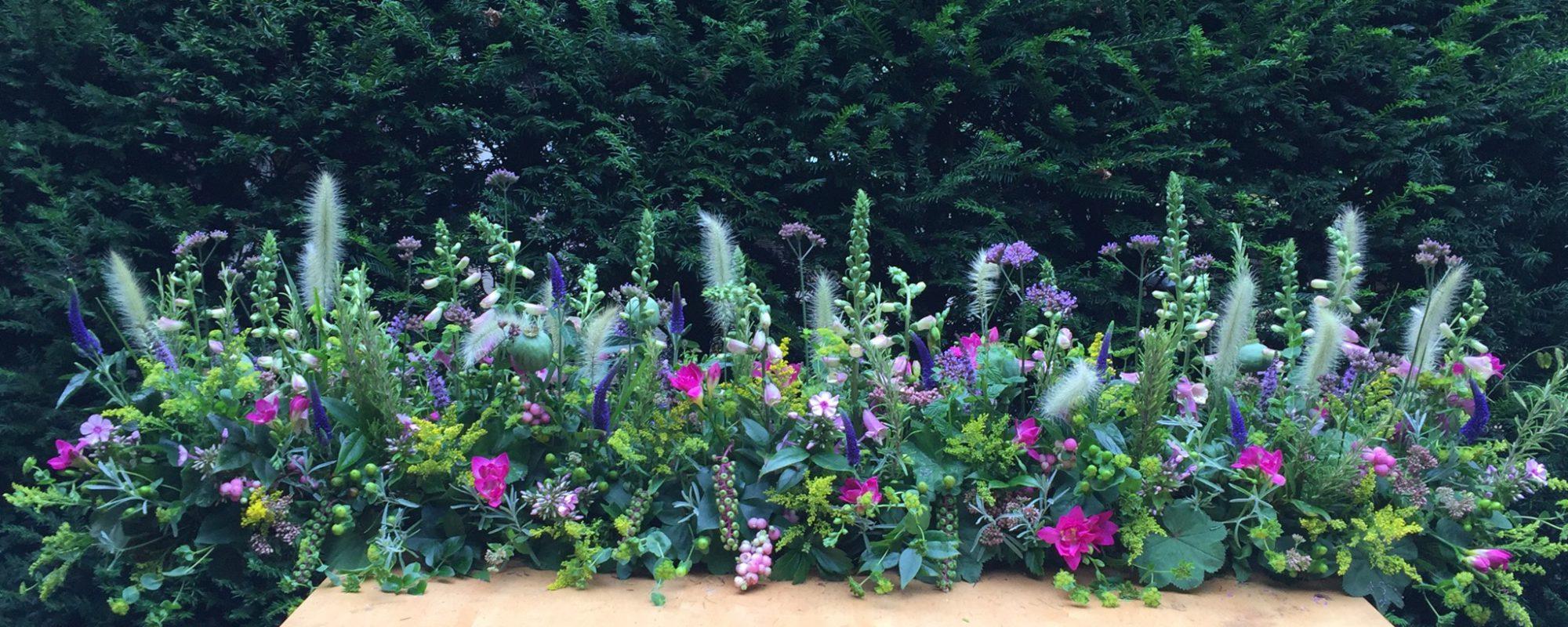 Kistbedekking veldbloemen zomer